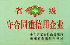 山东省重合同守信用企业